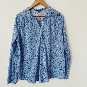Goerges Blue and white floral print Top pyjama